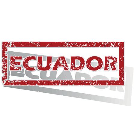 ecuador: Ecuador outlined stamp