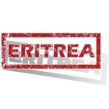 eritrea: Eritrea outlined stamp