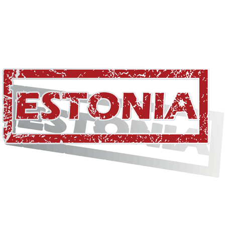 outlined: Estonia outlined stamp
