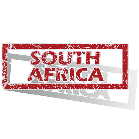 outlined: South Africa outlined stamp