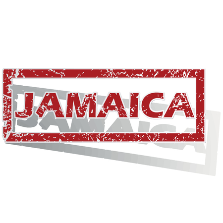 outlined: Jamaica outlined stamp