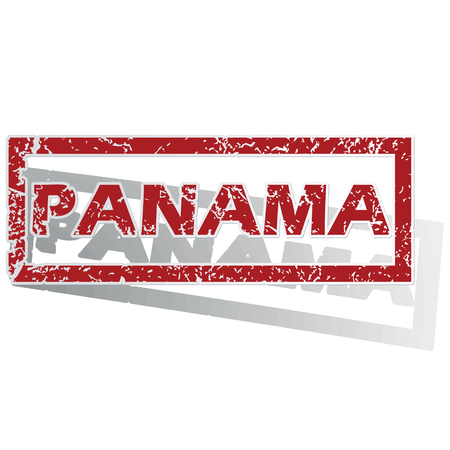 is outlined: Panama outlined stamp Illustration