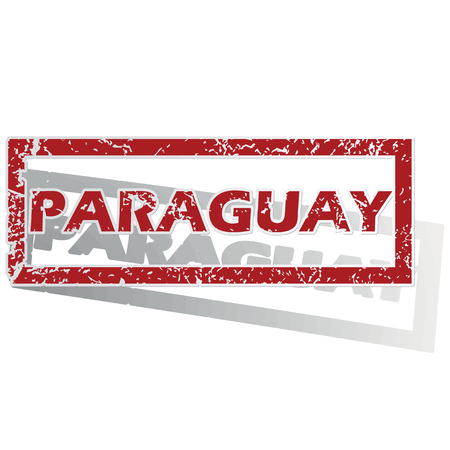 is outlined: Paraguay outlined stamp