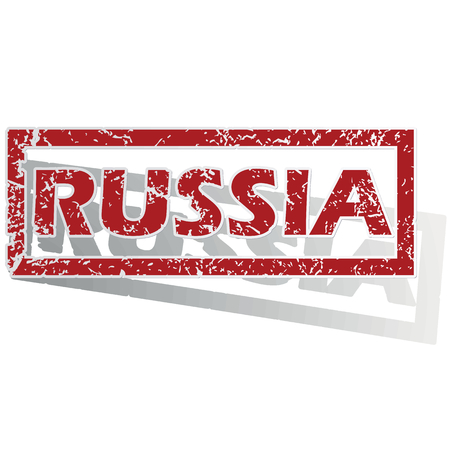 outlined: Russia outlined stamp