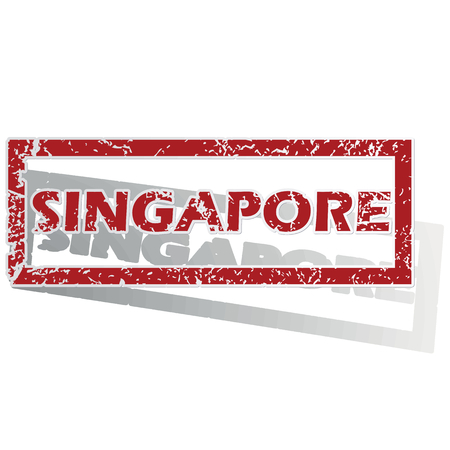 is outlined: Singapore outlined stamp