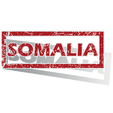 is outlined: Somalia outlined stamp