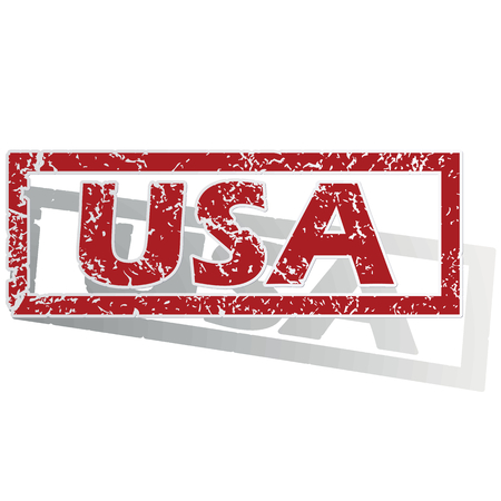 is outlined: USA outlined stamp Illustration
