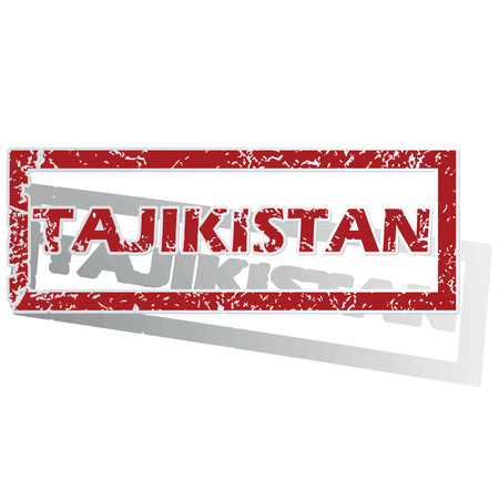 outlined: Tajikistan outlined stamp