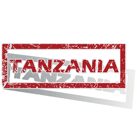 outlined: Tanzania outlined stamp