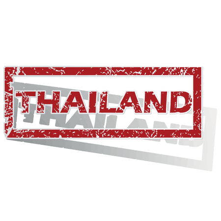 is outlined: Thailand outlined stamp