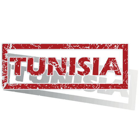 is outlined: Tunisia outlined stamp