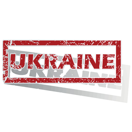 Ukraine outlined stamp Vector