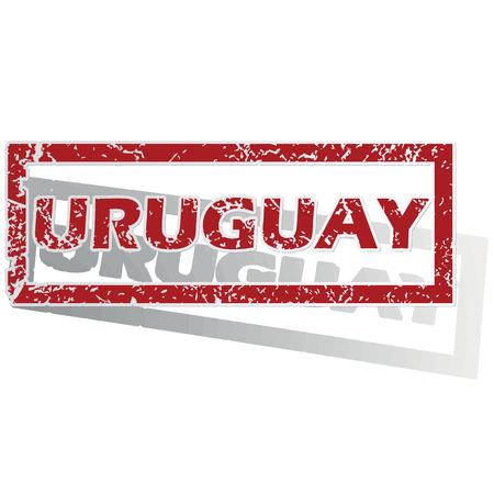 is outlined: Uruguay outlined stamp Illustration