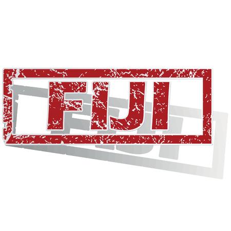 fiji: Fiji geschetst stempel