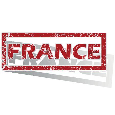 france stamp: France outlined stamp Illustration