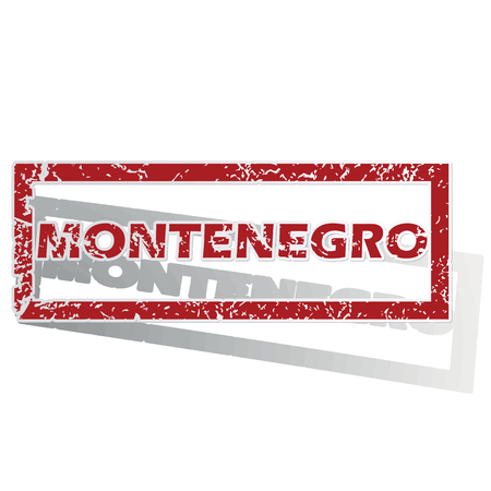 is outlined: Montenegro outlined stamp