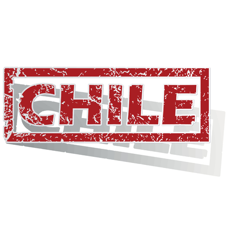 outlined: Chile outlined stamp