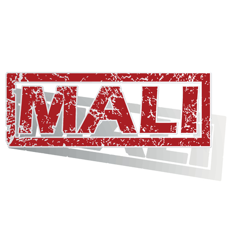 is outlined: Mali outlined stamp