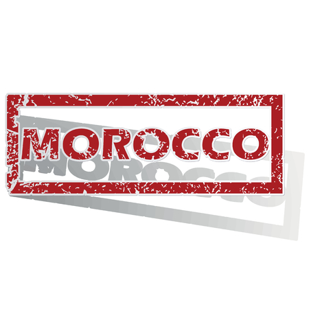 is outlined: Morocco outlined stamp