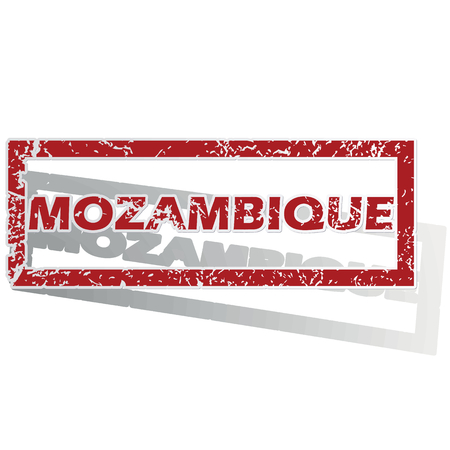 is outlined: Mozambique outlined stamp Illustration
