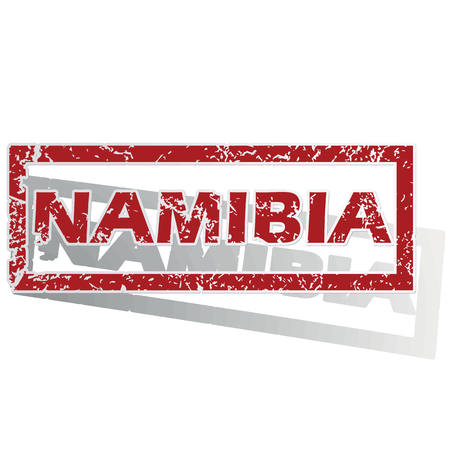outlined: Namibia outlined stamp Illustration