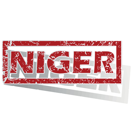 outlined: Niger outlined stamp