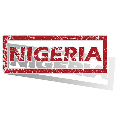 nigeria: Nigeria outlined stamp