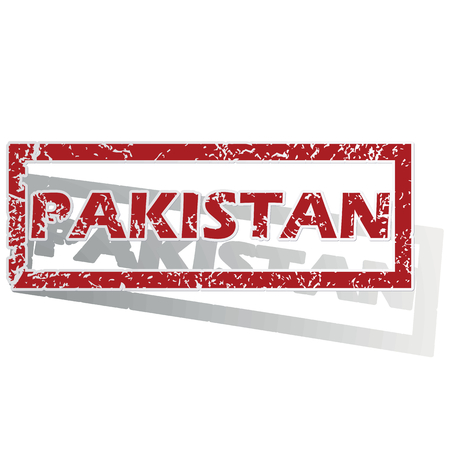 is outlined: Pakistan outlined stamp
