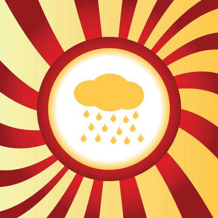 sleet: Raining abstract icon Illustration