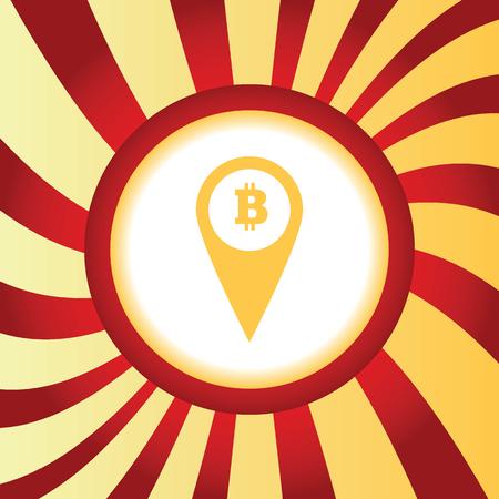 net trade: Bitcoin pointer abstract icon