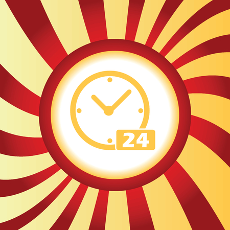 twenty four hours: 24 workhours abstract icon