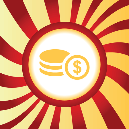 Dollar rouleau abstract icon