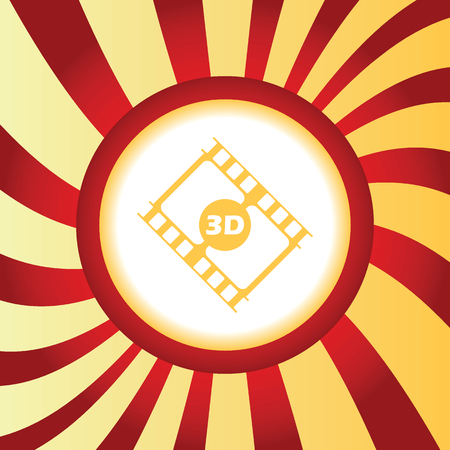 3d: 3D movie abstract icon