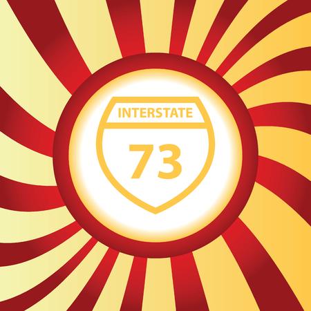 interstate: Interstate 73 abstract icon Illustration