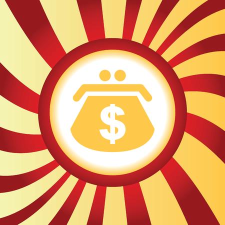 purse: Dollar purse abstract icon