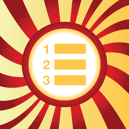 enumerated: Numbered list abstract icon