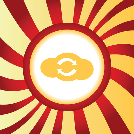 data synchronization: Cloud exchange abstract icon