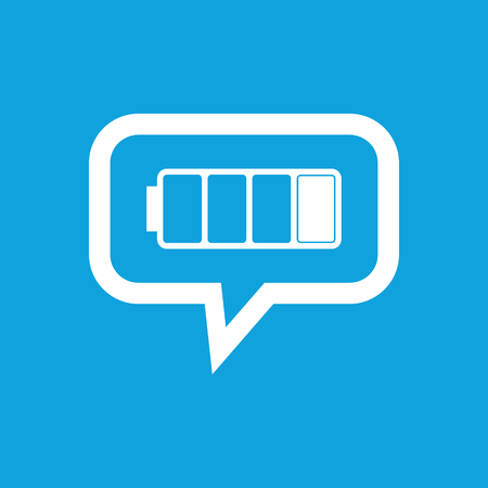 low battery: Low battery message icon