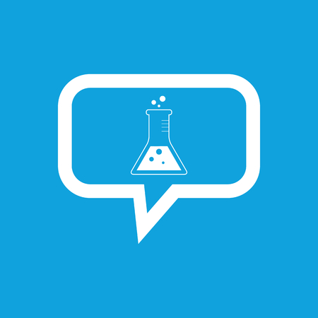Conical flask message icon