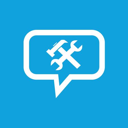 repairs: Repairs message icon Illustration