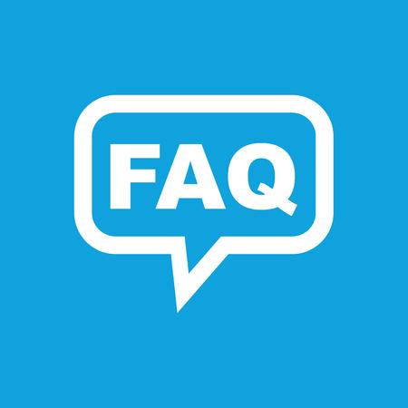 FAQ message icon Stock Illustratie