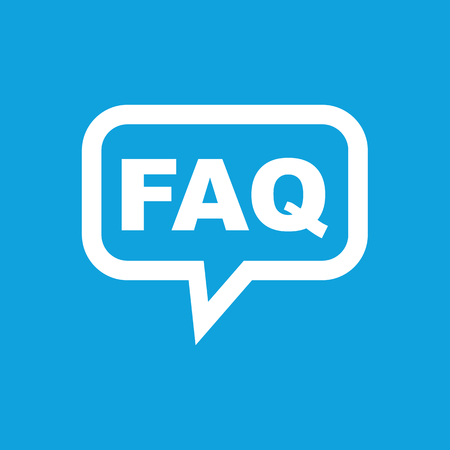 FAQ icône de message Banque d'images - 41292629
