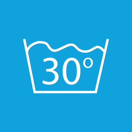 degrees: 30 degrees wash icon