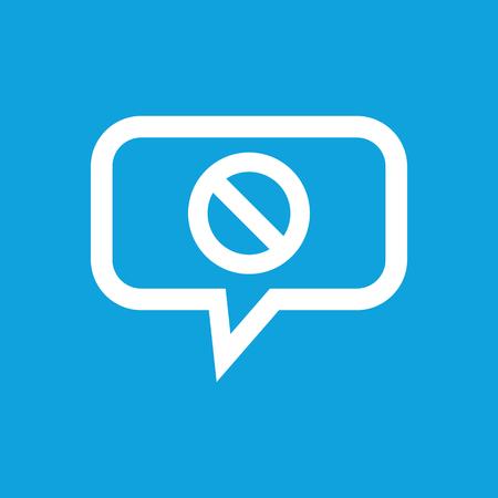 NO sign message icon Vector