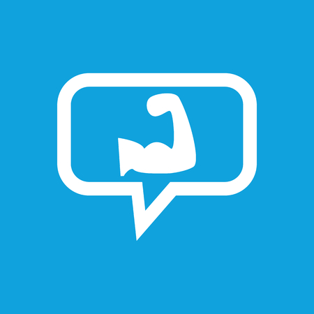 muscular arm: Muscular arm message icon