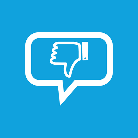 disapproval: Dislike message icon
