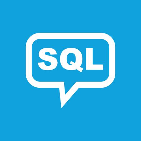sql: SQL message icon Illustration
