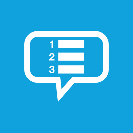 enumerated: Numbered list message icon Illustration