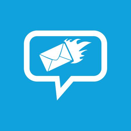 burning letter: Burning letter message icon
