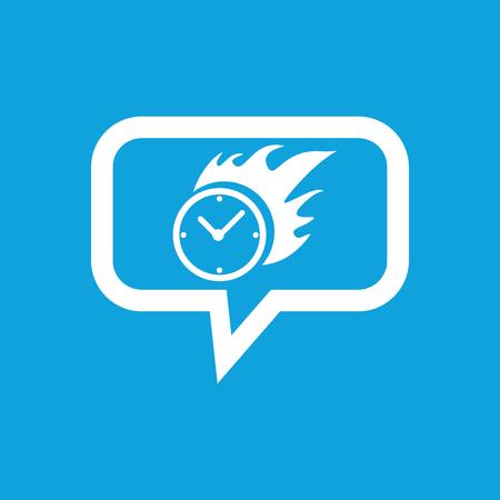 bounds: Burning clock message icon Illustration